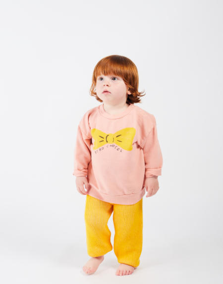 Baby Pulli Bow Rose von Bobo Choses