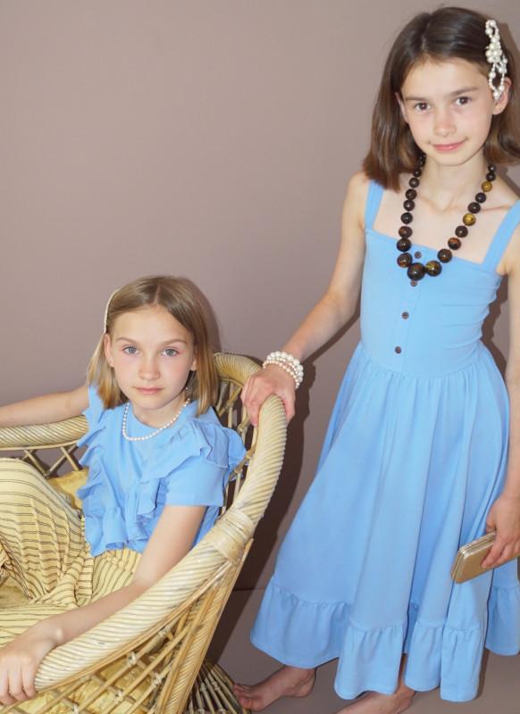Trägerkleid Svea Kids hellblau von Knast