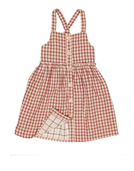 Kleid Kids Zoe Vichy Brick von Buho
