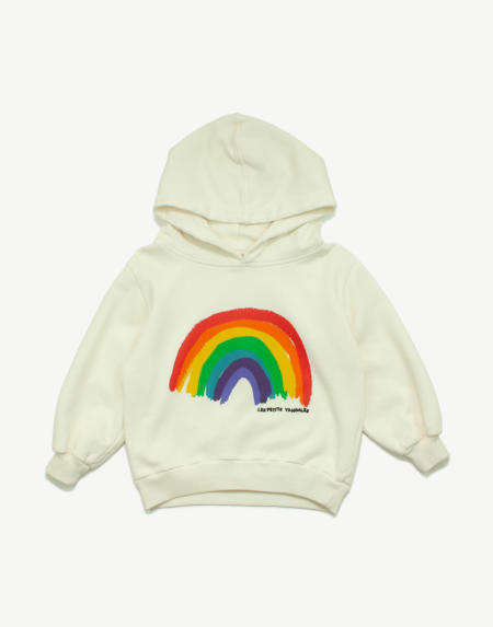 Pullover Kids Rainbow Sweat weiss von Les Petits Vandales