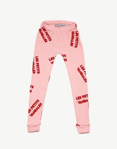Leggings Kids All Over Rib Pink von Les Petits Vandales