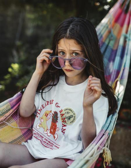 T-Shirt Kids Pineapple & Banana Crème von Les Petits Vandales
