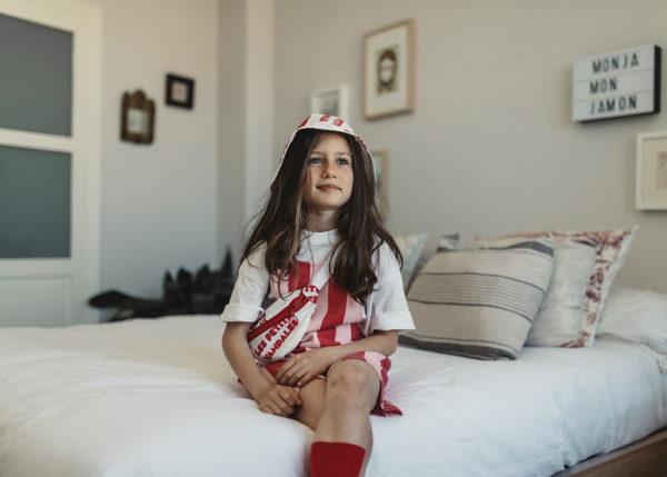 Kurze Latzhose Kids Gestreift von Les Petits Vandales