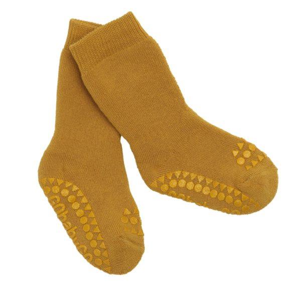 Anti Rutsch Socken Mustard von Go Baby Go