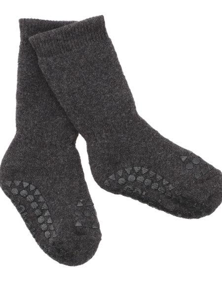 Anti Rutsch Socken Dark Grey Melange von Go Baby Go