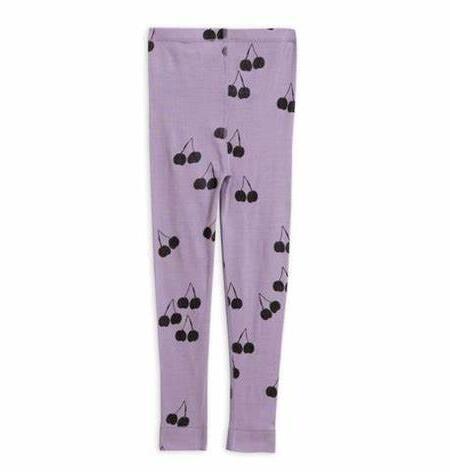 Leggings Kids Cherry Wool Purple von Mini Rodini