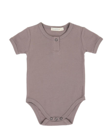 Body Baby  Rib Haze Grey von Phil & Phae