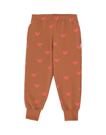 Pulli Hearts cinnamon/light red von Tinycottons