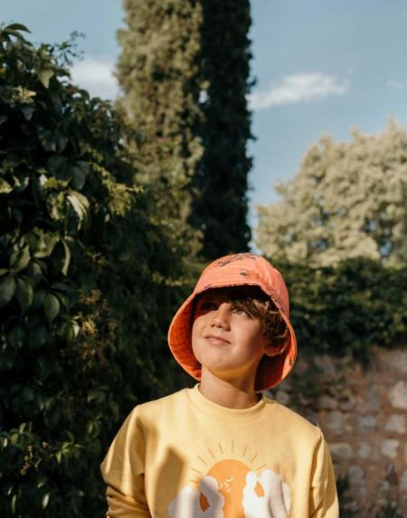 Pullover Kids Sun Yellow/Brick von Tinycottons