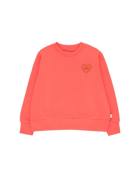 Crop Sweatshirt Tiny Heart light red/red von Tinycottons