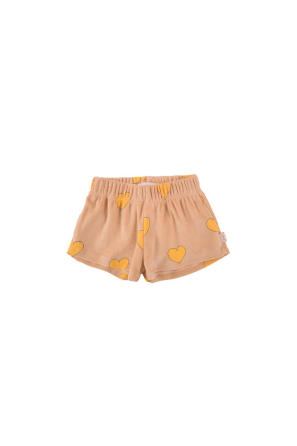 Shorts Hearts light nude/gelb von Tinycottons