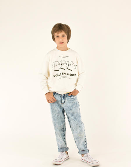 Baggy Jeans Tiny Snowy Blue von Tinycottons