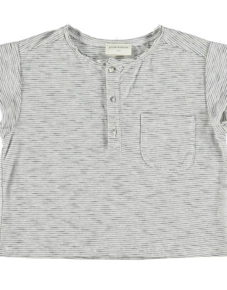 T-Shirt Kids Unisex Blau / Weiss von PiuPiuchick