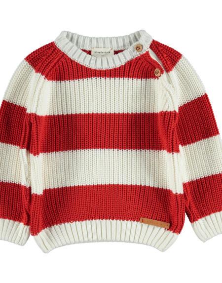 Pullover Kids Sweatshirt Rot Weiss gestreift von PiuPiuchick
