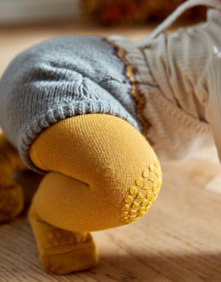Strumpfhosen Baby Crawling Mustard von Go Baby Go