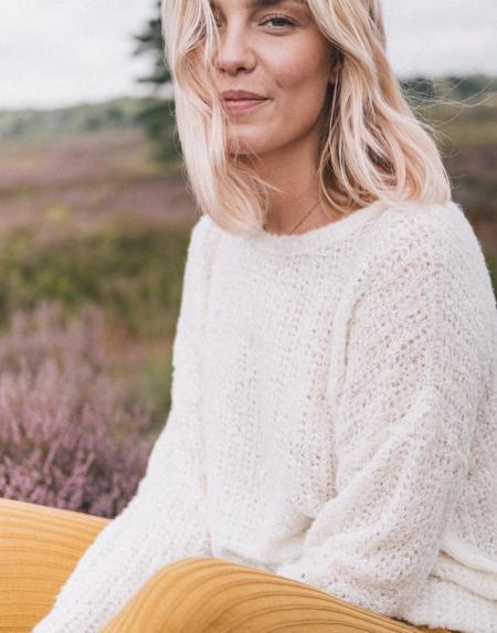 Pullover Breezy Bella Off White von LN Knits