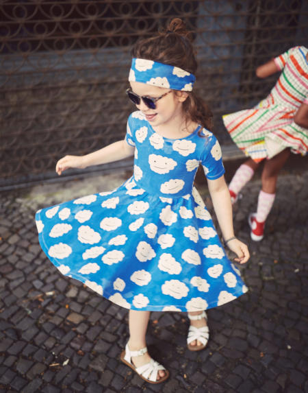 Ballerina Kleid Kids Blue Clouds von Noé & Zoë
