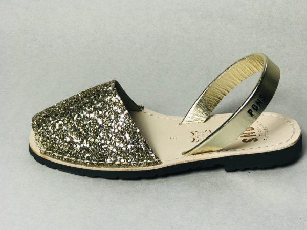 Avarca Woman Classic Glitter Champagne von Pons