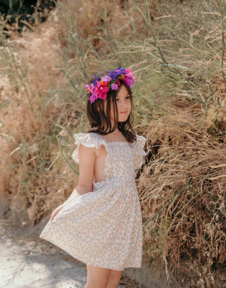 Kleid Kids Ambika Cream Petals von Louise Misha
