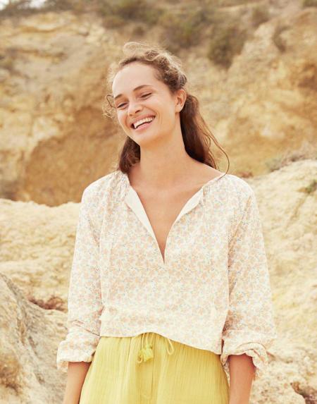 Bluse Andash Cream Petals von Louise Misha