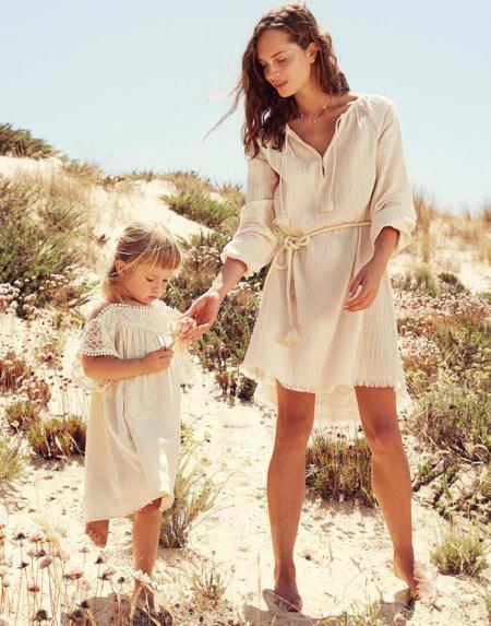 Kleid Abella Cream von Louise Misha
