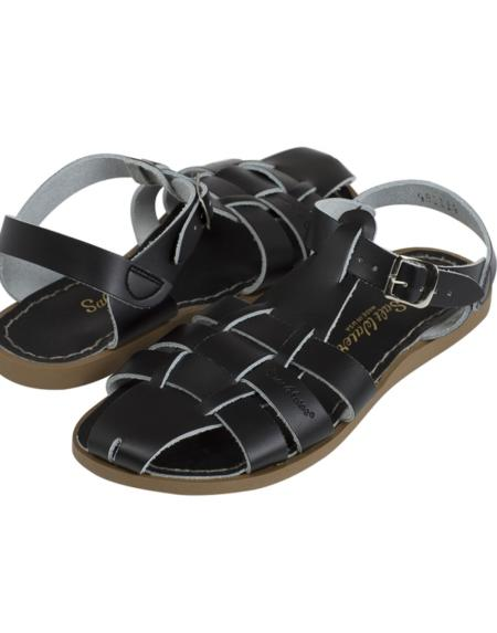 Saltwater Shark Kids Black von Salt Water Sandalen