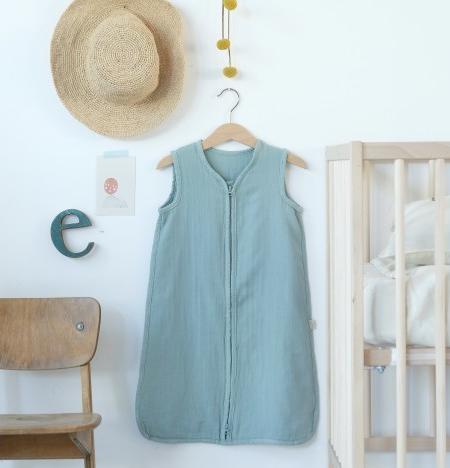 Sommerschlafsack Baby Blue Surf von Poudre Organic