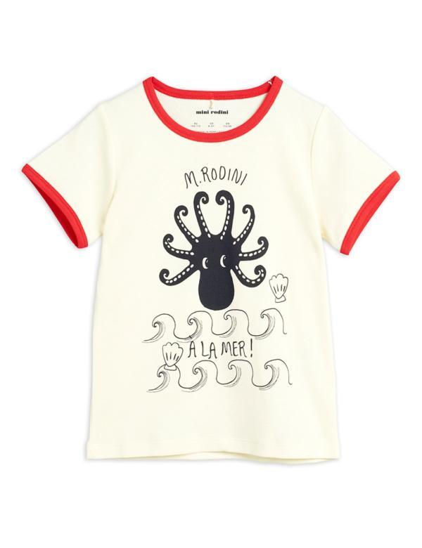 T-Shirt Kids Octopus Rot von Mini Rodini