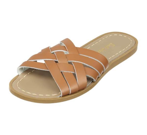 Retro Slide Adult Tan von Salt Water Sandalen
