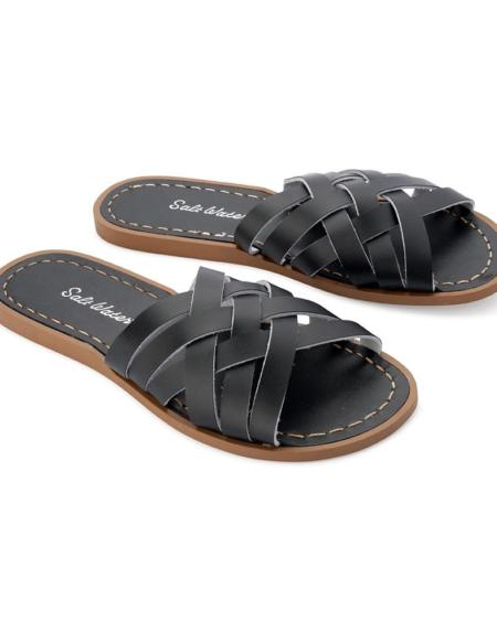 Retro Slide Adult Black von Salt Water Sandalen