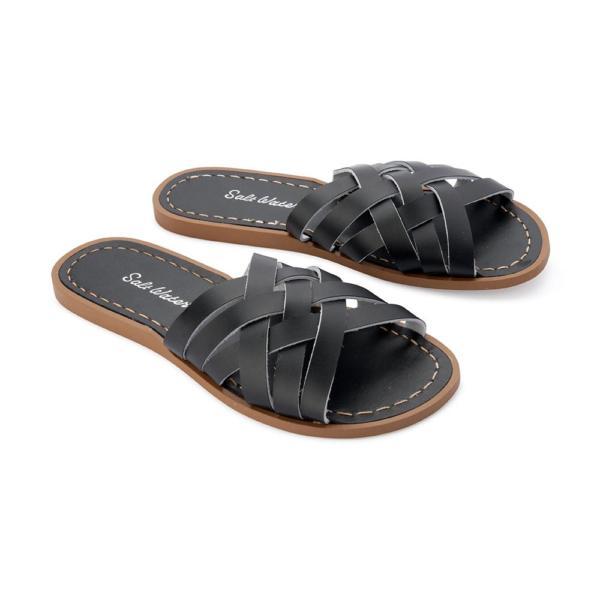 Retro Slide Adult Black von Salt Water Sandalen