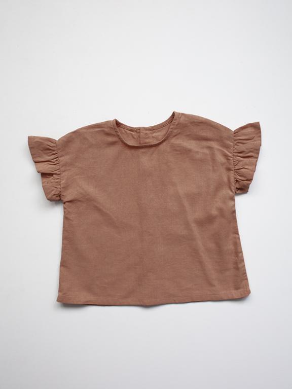 Frill Shirt Linen Cinnamon von The Simple Folk