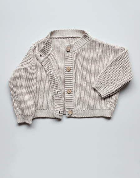 Chunky Cardigan Oatmeal von The Simple Folk