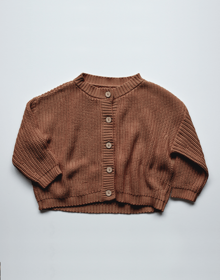 Chunky Cardigan Mocha von The Simple Folk