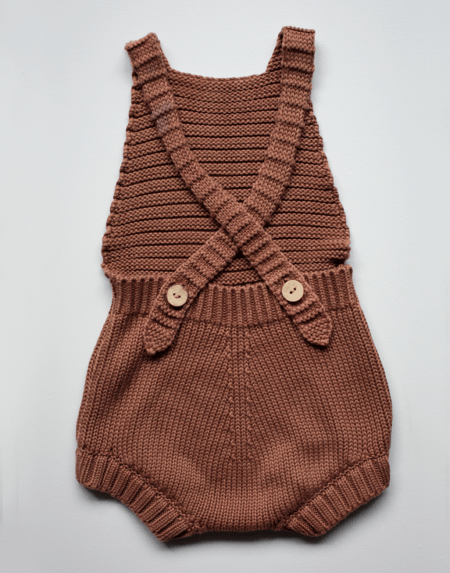 Knit Romper Baby Mocha von The Simple Folk