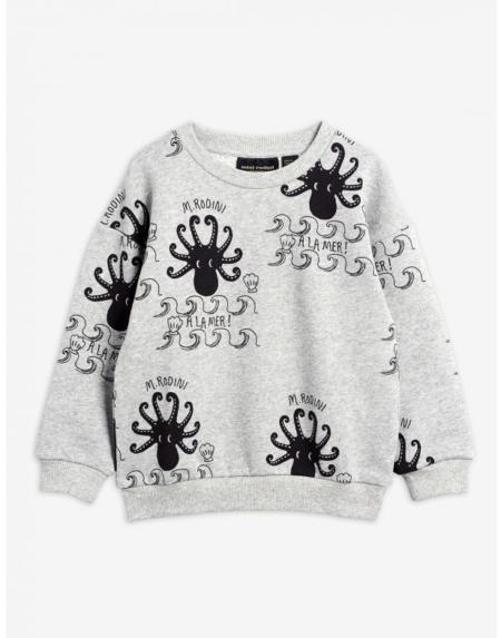 Pulli Kids Octopus Grau von Mini Rodini