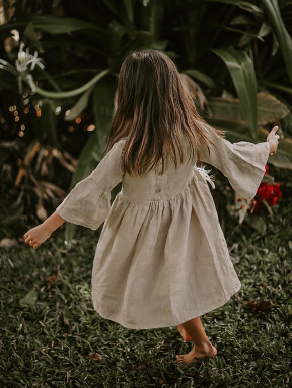 Kleid Kids Sage Oatmeal von The Simple Folk
