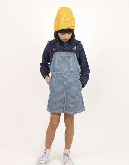 Kleid Kids Stripes Denim von Tinycottons