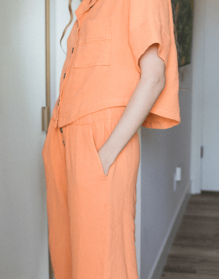 Muslin Bluse Tangerine von Backbeat