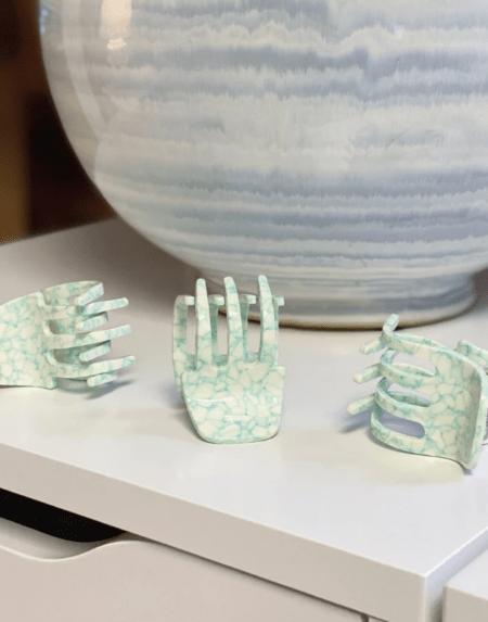Haarklammer Mini Minted Porcelain von Machete