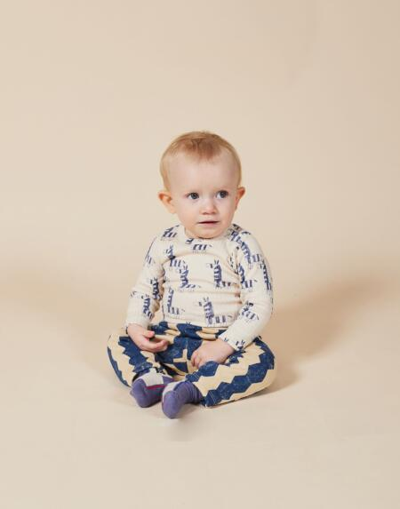 Body Baby Zebras All Over Longsleeve von Bobo Choses