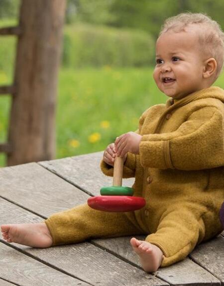 Overall Wollfleece Baby Safran von Engel Natur