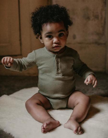 Ribbed Body Baby Sage von The Simple Folk