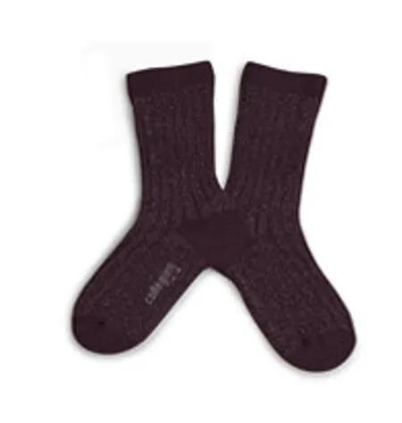 Glitzer Socken Aubergine von Collégien