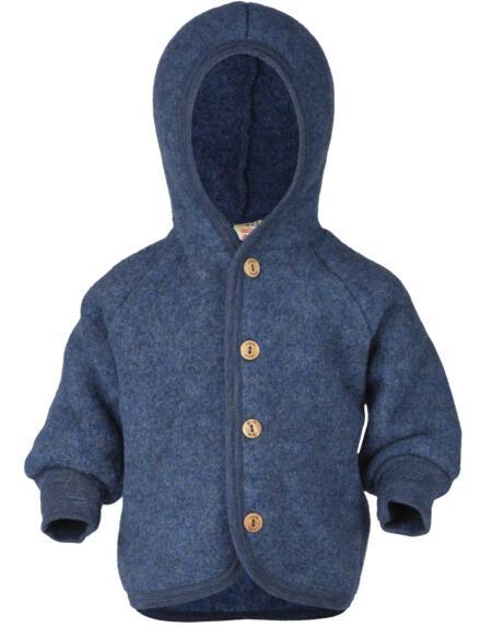 Wollfleece Jacke Baby Blau von Engel Natur
