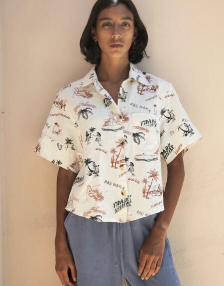 Hawaiian Pajama Bluse von Backbeat