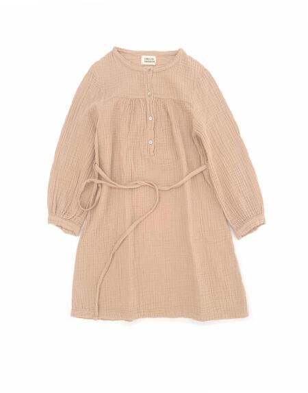 Kleid Kids Crinkle Rose Beige von Longlivethequeen