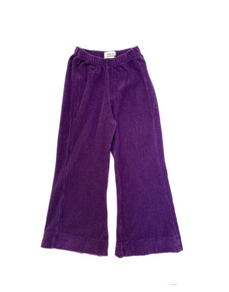 Hose Kids Flared Purple Velvet von Longlivethequeen