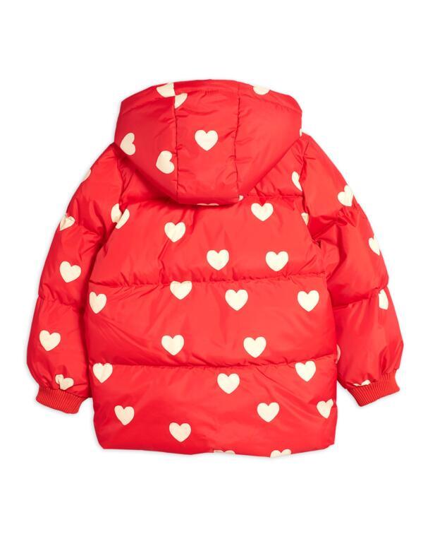 Pufferjacke Kids Hearts Rot von Mini Rodini