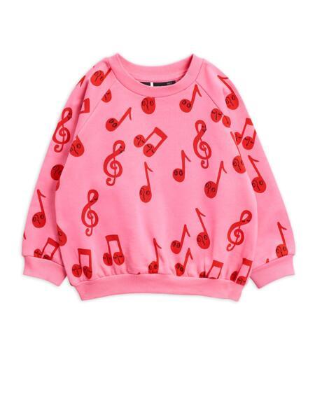 Pulli Kids Notes Pink von Mini Rodini